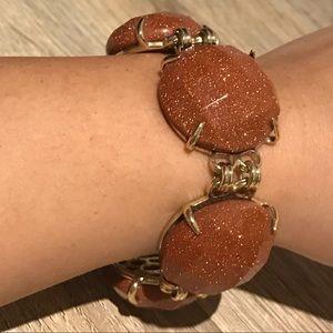 Kendra Scott Goldstone Glass Bracelet